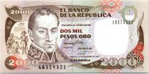 Colombie 2000 Pesos Simon Bolivar - Paso del Páramo de Pisba - 1990