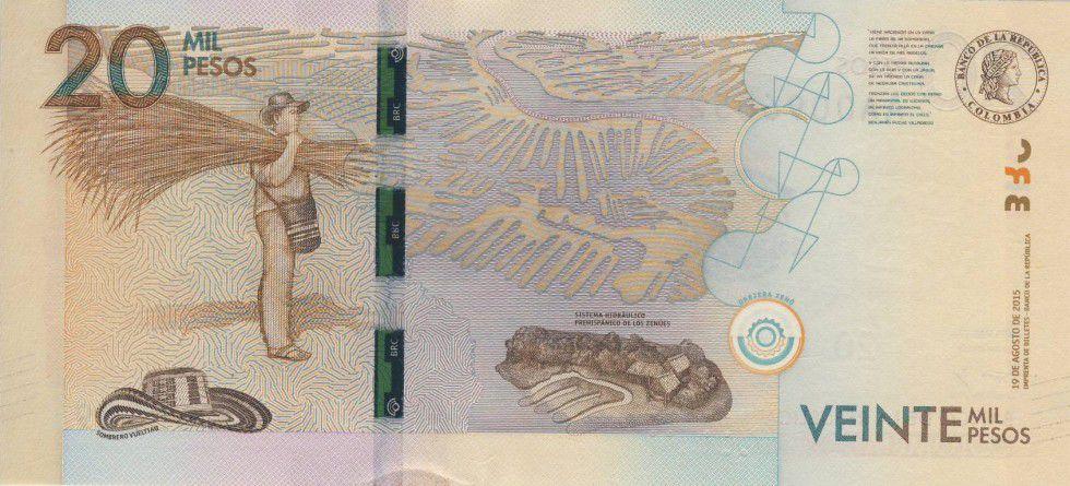 Colombie 20000 Pesos Alfonso Lopez Michelsen - 2015 (2016)