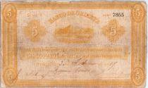 Colombie 5 Pesos Montagne 1887