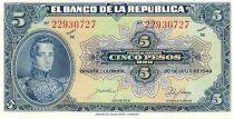 Colombie 5 Pesos oro oro, Gal Cordoba - 1944