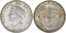 Colombie 50 Centavos Christophe Colomb - 1892 - Argent