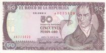 Colombie 50 Pesos 1986