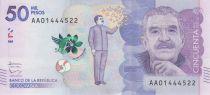 Colombie 50000 Pesos Gabriel Garcia Marquez - 2015 (2016)