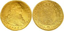 Colombie 8 Escudos Charles IV - Armoiries 1792 P JF - Popayan - Or