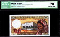 Comores 500 Francs Femme - Batiment - 1976 - ICG UNC70