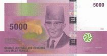Comores 5000 Francs Saïd Mohamed Cheik  -  2006 (2020) - Préfix H - P.18c - Neuf