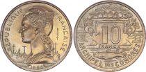 Comoros 10 Francs - 1964 - Test Strike - Comoros Archipelago