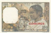 Comoros 100 Francs Women - 1963 - Serial X.2967