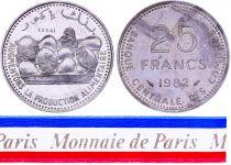 Comoros 25 Francs - 1982 - Test Strike - Central Bank of Comoros