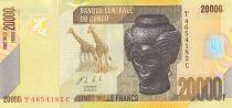 Congo (RDC) 20000 Francs Bashilele - Giraffes - 2006 - UNC