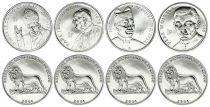 Congo (RDC) SET.1 Set of 4 coins with John Paul II