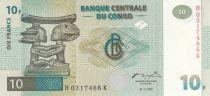 Congo (République Démocratique du) 10 Francs 1997 - Sculptures Luba en bois