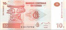 Congo (République Démocratique du) 10 Francs Appui Tête de Chef Luba - 2003 G et D Munich