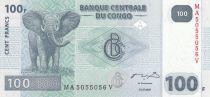 Congo (République Démocratique du) 100 Francs 2007 - Eléphant, barrage hydraulique - HdM
