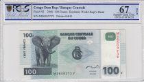 Congo (République Démocratique du) 100 Francs Eléphant - Barrage 2000 - PCGS 67 OPQ