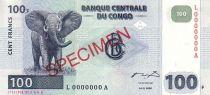 Congo (République Démocratique du) 100 Francs Eléphant - Barrage Spécimen 2000 G et D Muncih