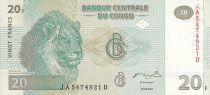 Congo (République Démocratique du) 20 Francs - Lions - HDM - 2003