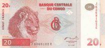 Congo (République Démocratique du) 20 Francs 1997 - Lions - HdM