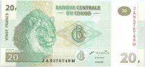 Congo (République Démocratique du) 20 Francs Lions - 2003 G et D Munich