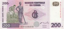 Congo (République Démocratique du) 200 Francs 2007 - Fermiers, hommes et rivière - G&D