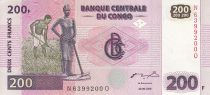 Congo (République Démocratique du) 500 Francs - Fermiers - Troncs - HDM - 2000