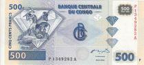 Congo (République Démocratique du) 500 Francs 2002 - Exploitation du diamant - G&D