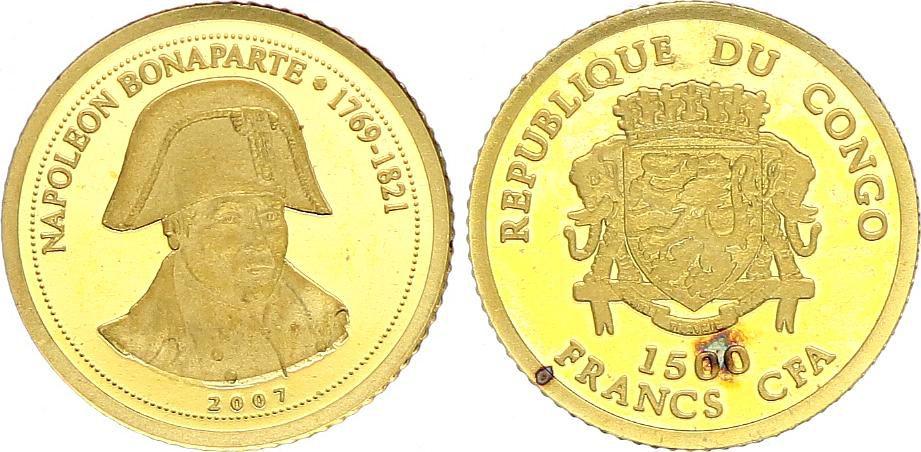 Congo (République du) 1500 Francs - Napoléon Bonaparte - 2007 - Or