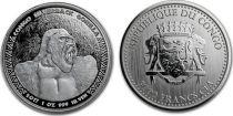 Congo (République du) 5000 Francs Gorille - Once Argent 2017