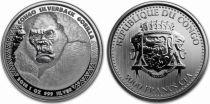 Congo (République du) 5000 Francs Gorille - Once Argent 2018