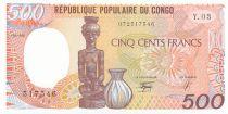 Congo 500 Francs  Statue, Poterie - 1990 - Série Y.03 - Neuf - P.8e