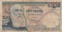Congo Belge 100 Francs Leopold II - 01-08-56 - Série P