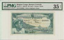 Congo Belge 20 Francs,Jeune Garçon, Barrage - 1956 - PCGG VF 35