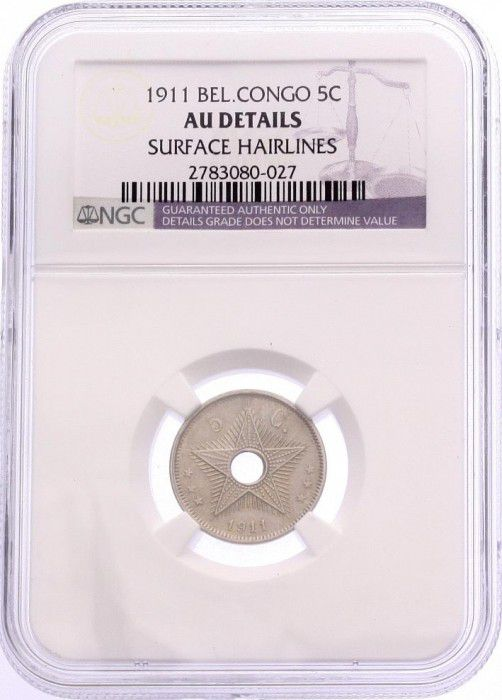 Congo Belge 5 Cents Etoile