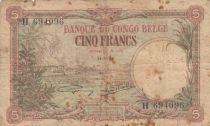 Congo Belge 5 Francs 21-01-1929 - p.TB - P.8e