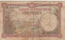Congo Belge 5 Francs 21-01-1929 - TB - P.8e