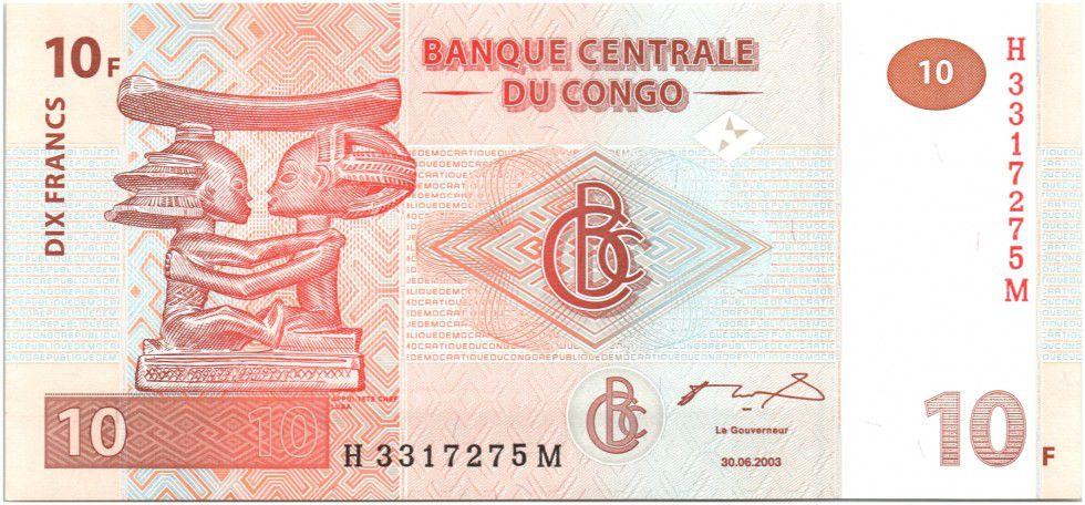 Congo Democratic Republic 10 Francs Apui-tete Chef Luba - 2003 G and D Munich