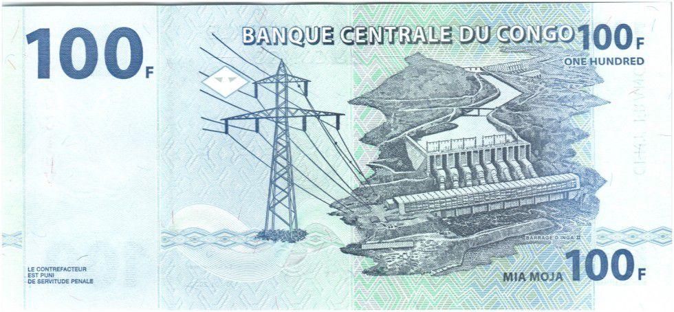 Congo Democratic Republic 100 Francs Elephant - Dam 2000 G and D Munich