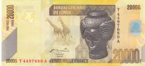 Congo Democratic Republic 20000 Francs Bashilele - Giraffes - 2006