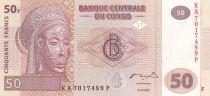 Congo Democratic Republic 50 Francs 2007 - Mask, Village - G&D