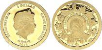 Cook Islands 1 Dollar Elizabeth II - John-Paul II - 2014 - Gold