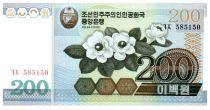 Corea del Norte 200 Won Flowers - 2005
