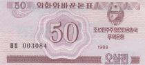 Corea del Norte 50 Chon Pink - 1988