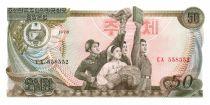 Corea del Norte 50 Won Soldier - Torch, red book - 1978