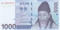Corea del Sur 1000 Won Yi Hwang - 2007