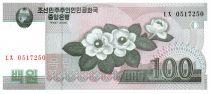 Corée du Nord 100 Won Fleurs - 2008