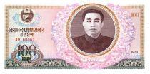 Corée du Nord 100 Won Kim Il Sung - Maison 1978