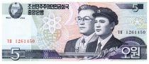 Corée du Nord 5 Won Etudiant, professeur - 2002 (2009)