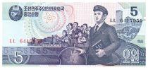 Corée du Nord 5 Won Groupe - 1998