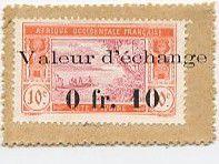 Costa de Marfil 0.10 Franc Postage Stamp - 1920
