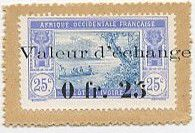 Costa de Marfil 0.25 Franc Postage Stamp